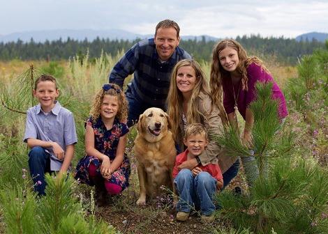 Spokane dentist TJ Scarborough and family