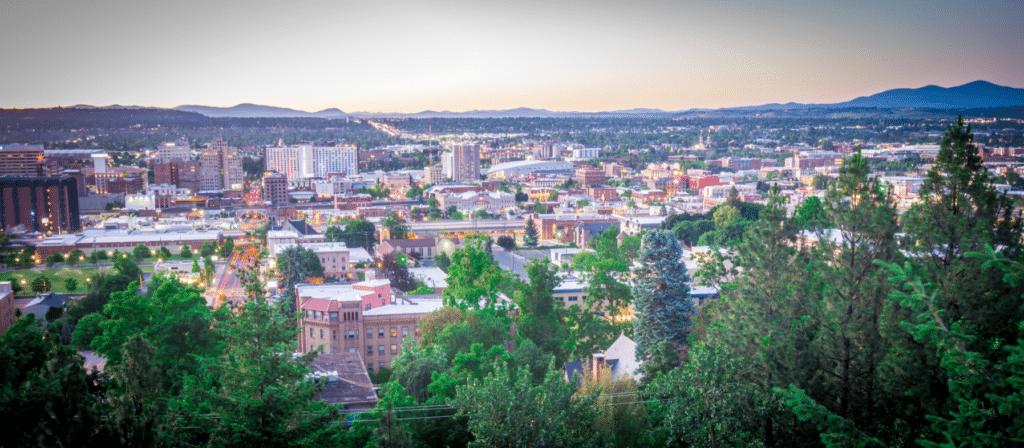 Spokane, WA City Skyline